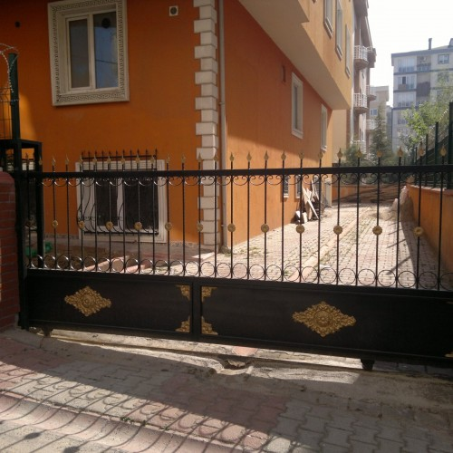 ferforje açılır garaj kapısı
