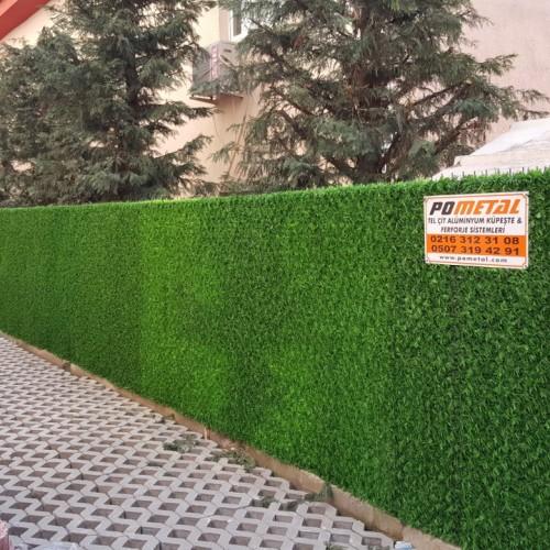 Sancaktepe apartman etrafının çimli çit ile çevrilmesi