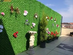 dekora çim çit veya çimli çit