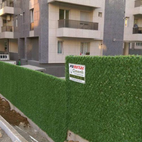 Kadıköy Caddebostan Çimen Residence  Çimenli Çit Uygulaması