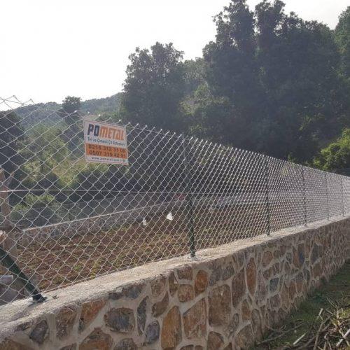 Şile Kervansaray Köyü'nde Boru Direkli Tel Çit Uygulamamız