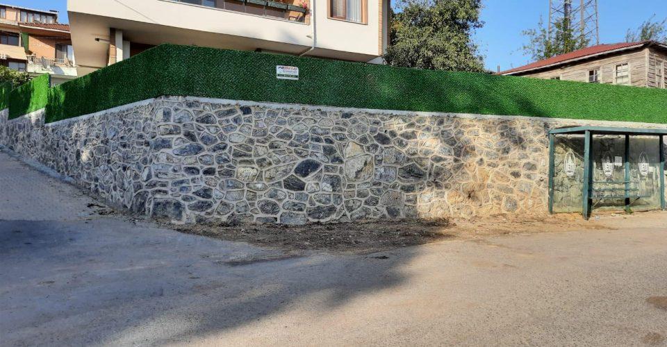 Şile Oruçoğlu köyü panel çit ve üzeri çimenli çit kaplaması