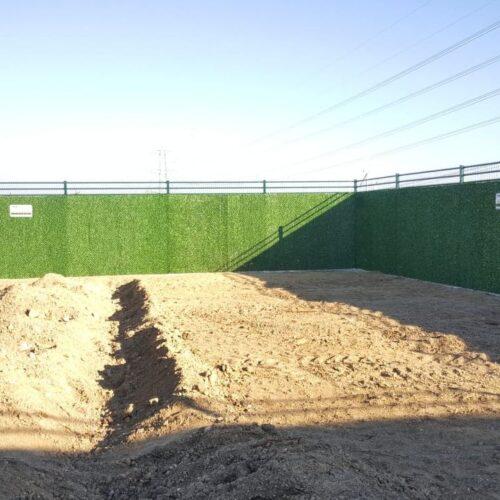 Silivri Pirana Panel Çit Üzerine Çimenli Çim Çit